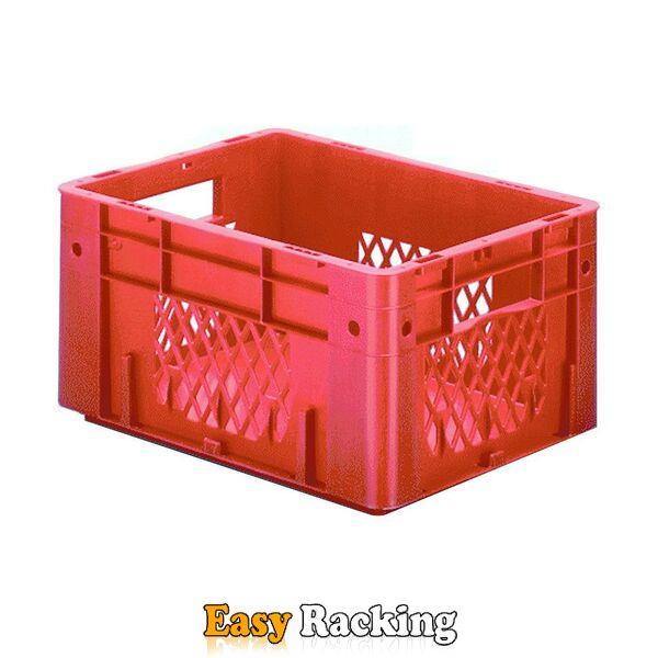 Zware transportkrat Euronorm plastic bak, krat VTK1 400x300x210 rood