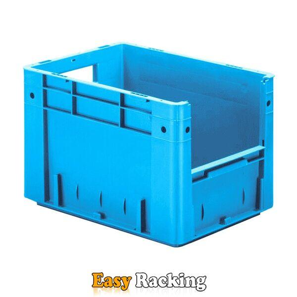 Zware transportkrat Euronorm plastic bak, krat VTK4 400x300x270 blauw