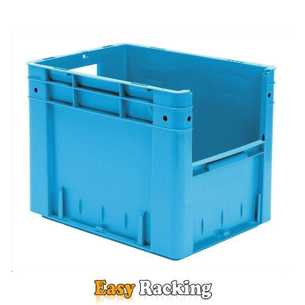 Zware transportkrat Euronorm plastic bak, krat VTK4 400x300x320 blauw