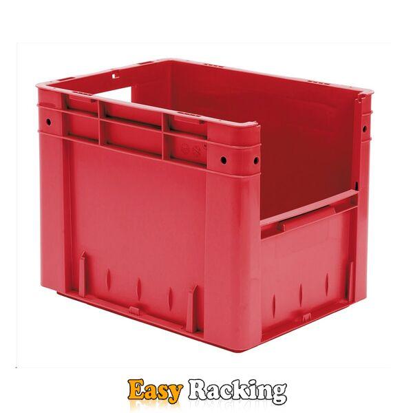 Zware transportkrat Euronorm plastic bak, krat VTK4 400x300x320 rood