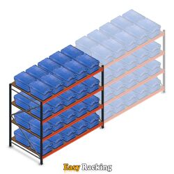 Beginsectie AR bakkenkast 2000x2250x1200, 4 niveaus met 40 distributiebakken