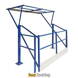 Gebruikt kantelhek Simplex voor entresolvloer 1600x2185x1300 blauw