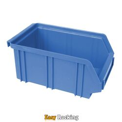 Kunststof stapelbak, Plastic magazijnbak A2 170x105x75 blauw
