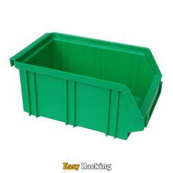 Kunststof stapelbak, Plastic magazijnbak A2 170x105x75 groen