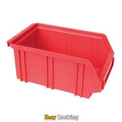 Kunststof stapelbak, Plastic magazijnbak A2 170x105x75 rood