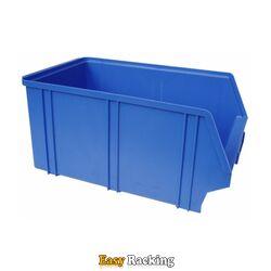 Kunststof stapelbak, Plastic magazijnbak A4 350x210x160 blauw