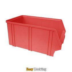 Kunststof stapelbak, Plastic magazijnbak A4 350x210x160 rood