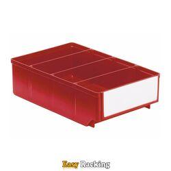 Magazijnbak, Magazijnstellingbak, Kunststof bak RK 300x186x83 rood