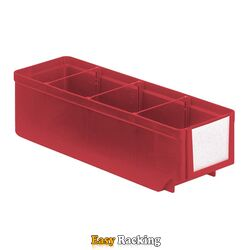 Magazijnbak, Magazijnstellingbak, Kunststof bak RK 300x93x83 rood