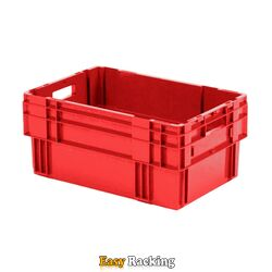 Stapelbare, nestbare transportkrat DTK0 600x400x270 rood