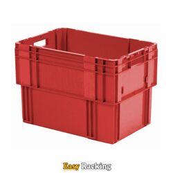 Stapelbare, nestbare transportkrat DTK0 600x400x420 rood