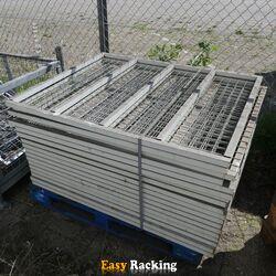 Voordeelpartij 18x draadroosterlegbord 1227x995x30mm grijs gebruikt
