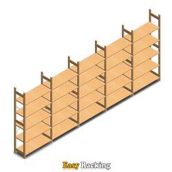 Voordeelrii houten legbordstelling bt euro 2100x5030x400