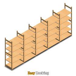 Voordeelrii houten legbordstelling bt euro 2100x5030x600