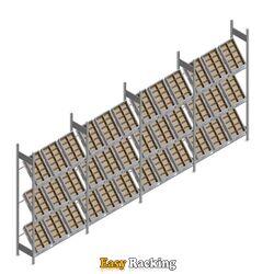 Voordeelrij bakkenstelling HD met 3 niveaus bakken 2000x5200x400mm (hxbxd) 4 secties