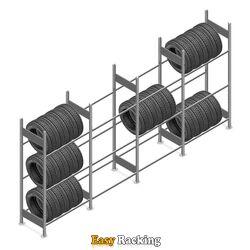 Voordeelrij bandenstelling Heavy Duty 2000x4000x500 3 niveaus 4 secties