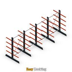 Voordeelrij medium draagarmstelling dubbelzijdig 2500x4000 mm (hxb) armlengte 600 mm - 4 niveaus