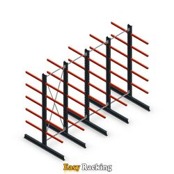 Voordeelrij medium draagarmstelling dubbelzijdig 3000x4000 armlengte 800 mm - 5 niveaus