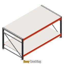 Werktafel grootvakstelling dubbellaags beginsectie zonder voorgemonteerde frames
