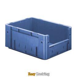 Zware transportkrat Euronorm plastic bak, krat VTK4 400x300x175 blauw
