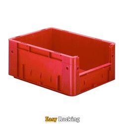 Zware transportkrat Euronorm plastic bak, krat VTK4 400x300x175 rood