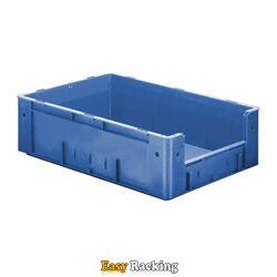 Zware transportkrat Euronorm plastic bak, krat VTK4 600x400x175 blauw