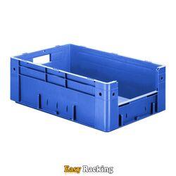 Zware transportkrat Euronorm plastic bak, krat VTK4 600x400x210 blauw